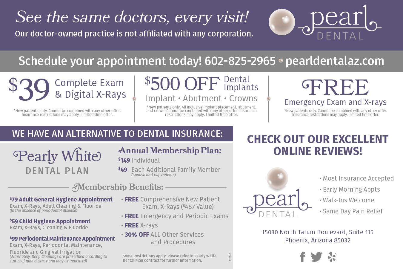 Pearl Dental Specials